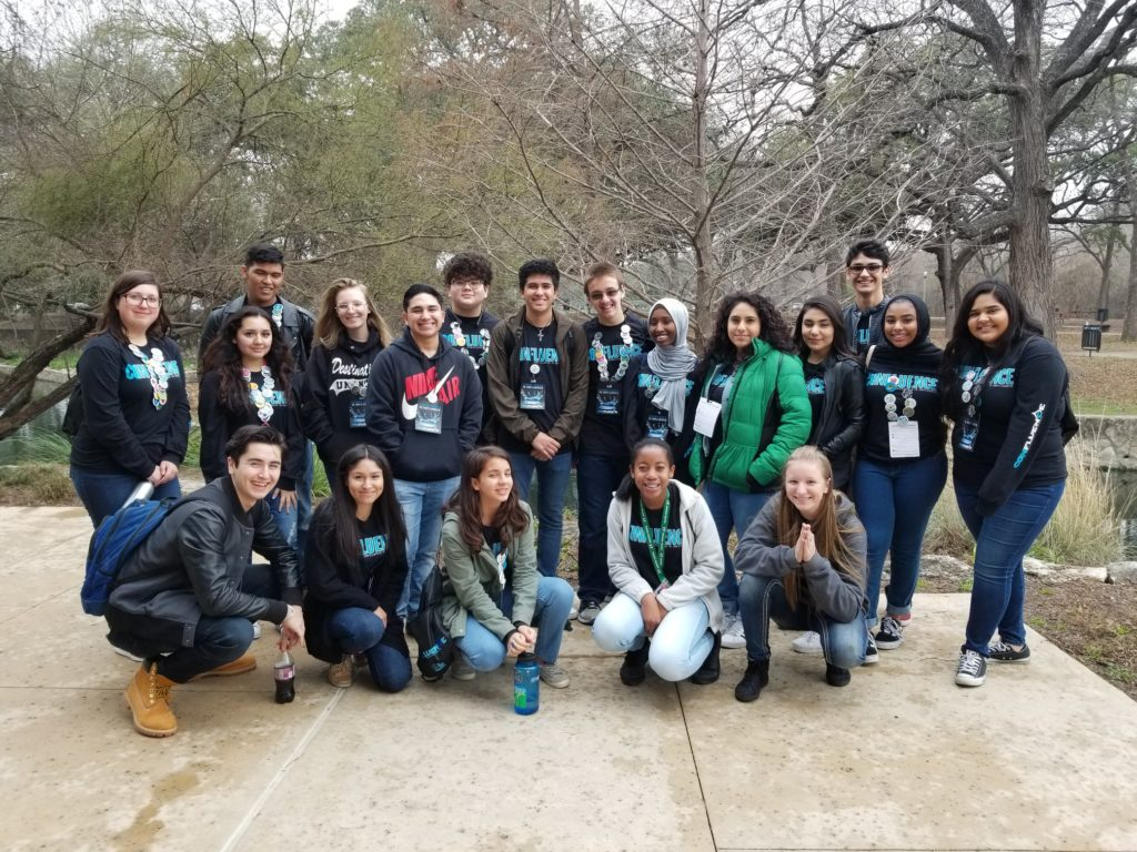 San Antonio High School IMPACT Team students attended Confluence 2018 at The Witte Museum.